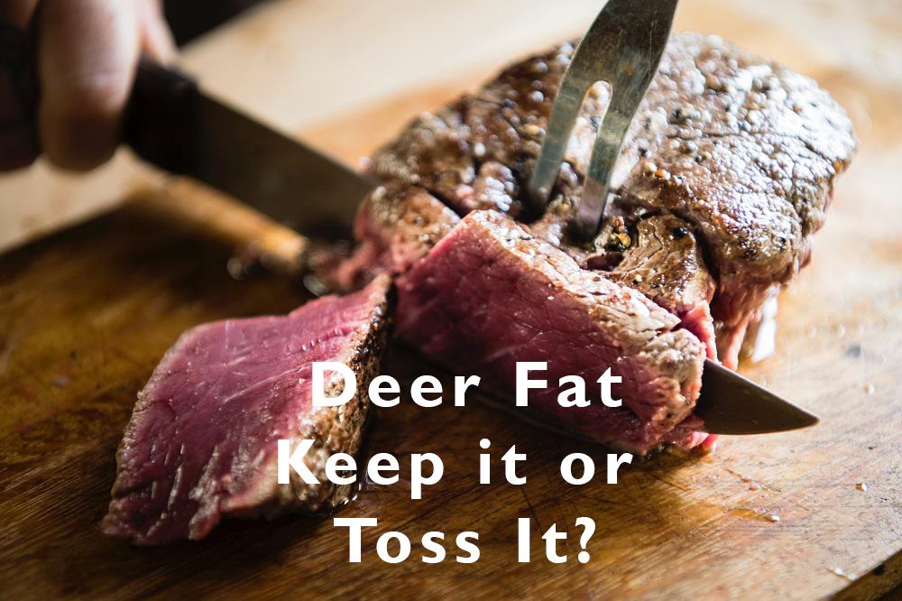 cutting into a venison deer steak Colorado