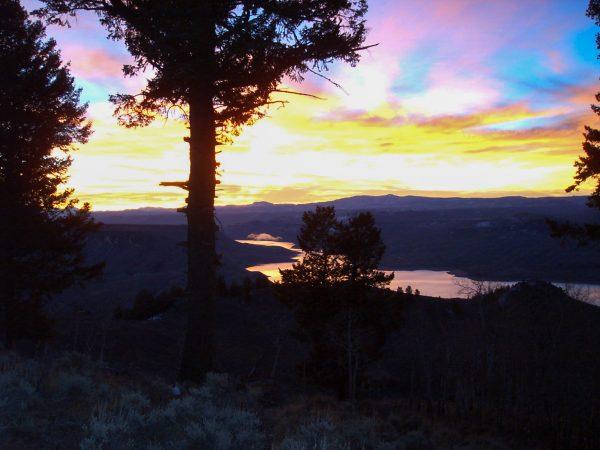 Sunset over Blue Mesa