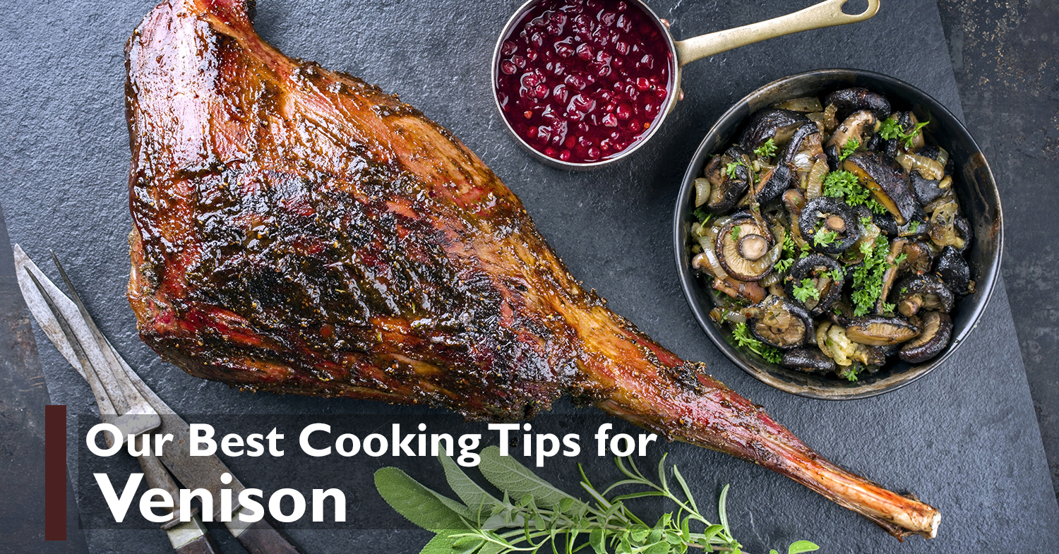 venison recipe with herbs and mushrooms