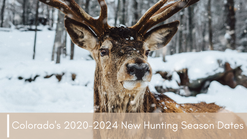 Colorado's 2020-2024 New Hunting Season Dates