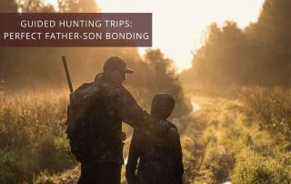 Father and son on a guided elk hunting trip for bonding time